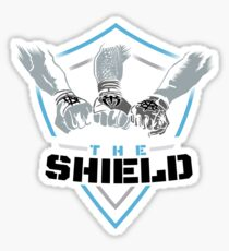 The Shield Blue-Black [Available in 10 colors] Sticker