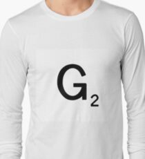Scrabble Large Letter G with White Background Long Sleeve T-Shirt