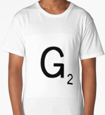 Scrabble Large Letter G with White Background Long T-Shirt
