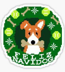 Feliz Navidog Sticker