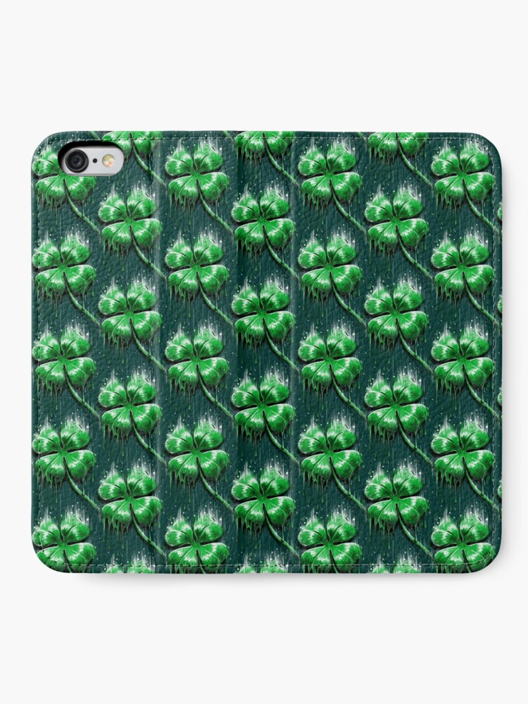 Alternate view of Four Leaf Clover iPhone Wallet