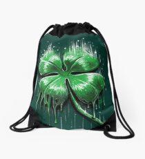 Four Leaf Clover Drawstring Bag