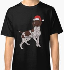 German Shorthaired Pointer in Santa Hat Christmas Pajama Merry Christmas Holiday PJ   T-Shirt Sweater Hoodie Iphone Samsung Phone Case Coffee Mug Tablet Case Gift Classic T-Shirt