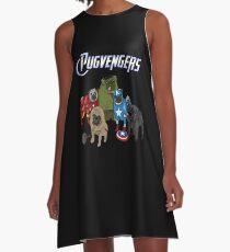 The Pugvengers A-Line Dress