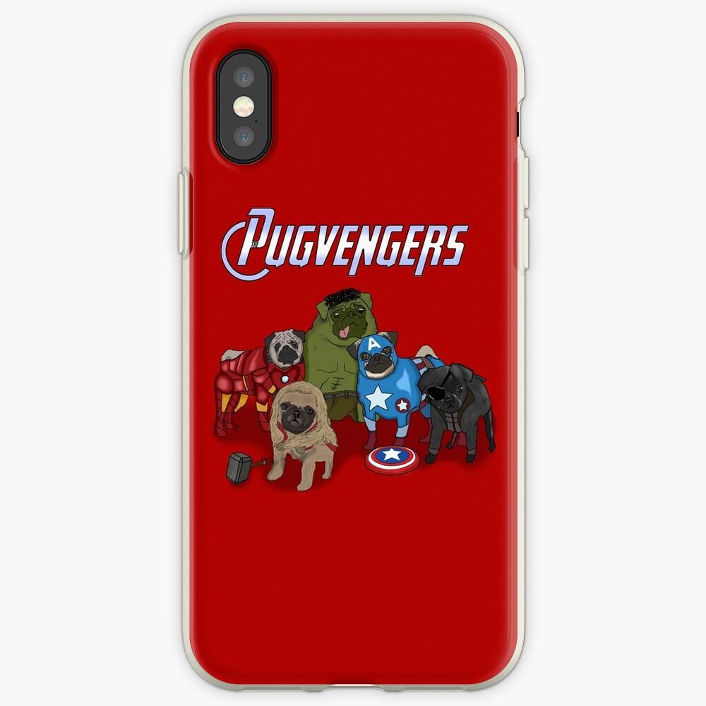 Los Pugvengers Vinilos y fundas para iPhone