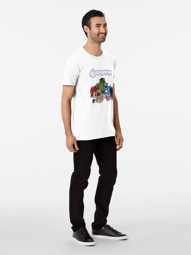 Vista alternativa de Camiseta premium Los Pugvengers