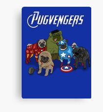 The Pugvengers Canvas Print