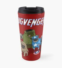 The Pugvengers Travel Mug