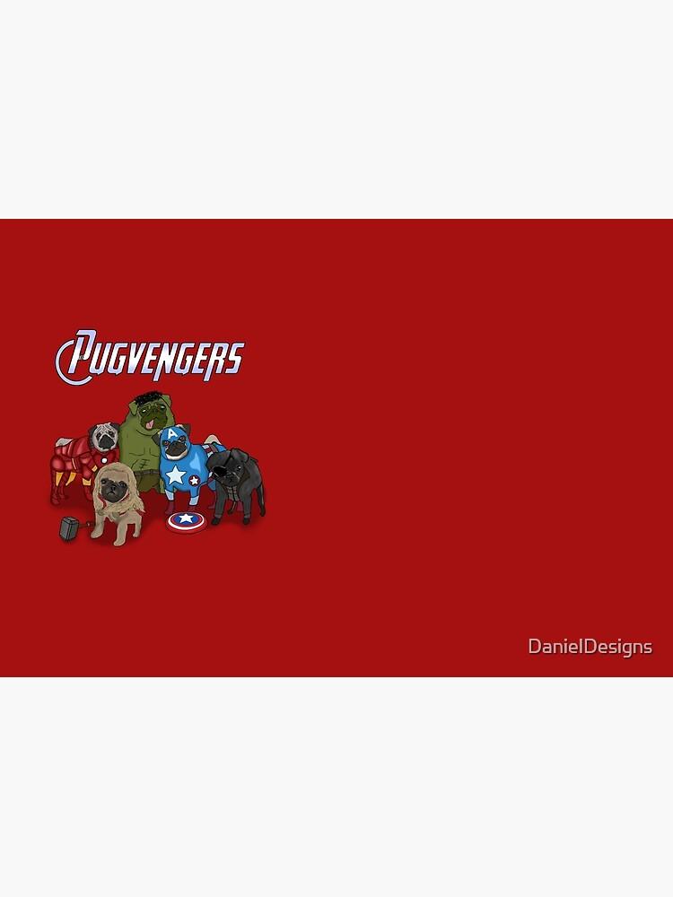Los Pugvengers de DanielDesigns