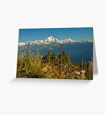 From thistle up...   Poon Hill, Nepal Greeting Card