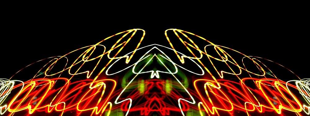 Neon Temple by Josh B