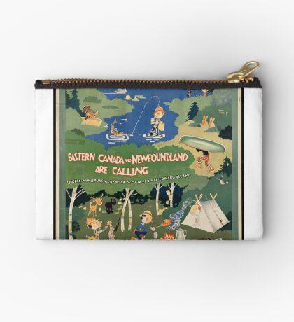 Canada Newfoundland Vintage Travel Advertisement Art Poster Zipper Pouch