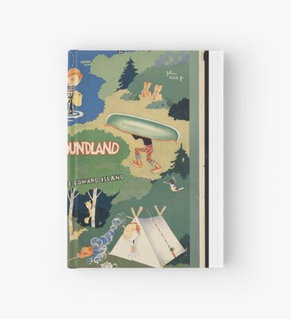 Canada Newfoundland Vintage Travel Advertisement Art Poster Hardcover Journal