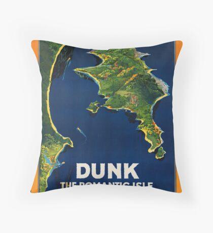 Dunk Australia Vintage Travel Advertisement Art Poster Throw Pillow