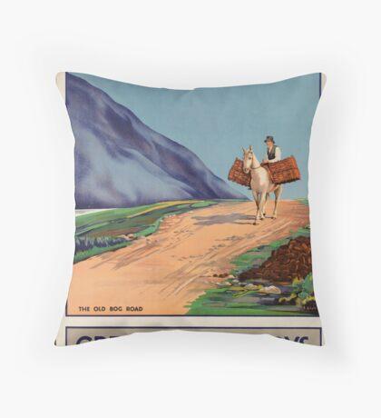 Rys Poland Vintage Travel Advertisement Art Poster Throw Pillow