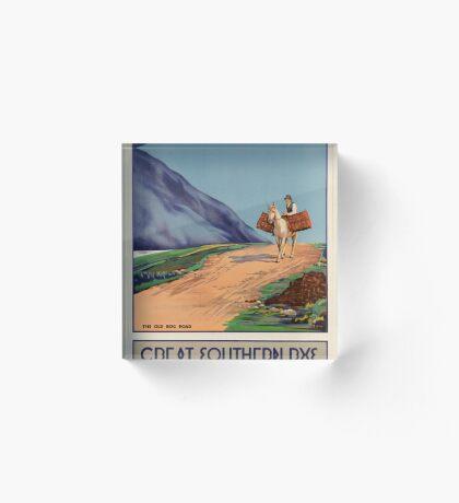 Rys Poland Vintage Travel Advertisement Art Poster Acrylic Block