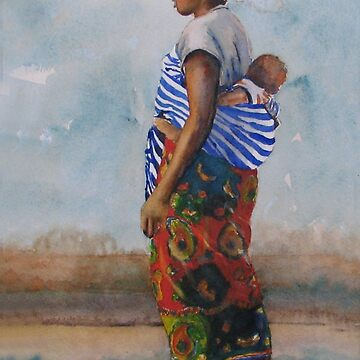 African Mother and Child by LindaStout