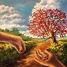 The Hand That Plants The Acorn by Randy Burns