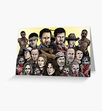 Walking Dead  Greeting Card