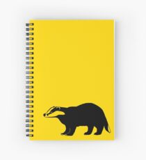 Badger - yellow and black Spiral Notebook