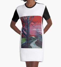 Mystic Grassland Graphic T-Shirt Dress