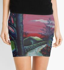 Mystic Grassland Mini Skirt