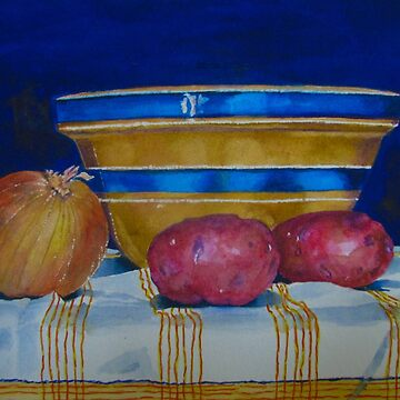 Still Life with Onion and Potatoes by LindaStout