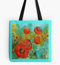Fire Red Poppy Tote Bag