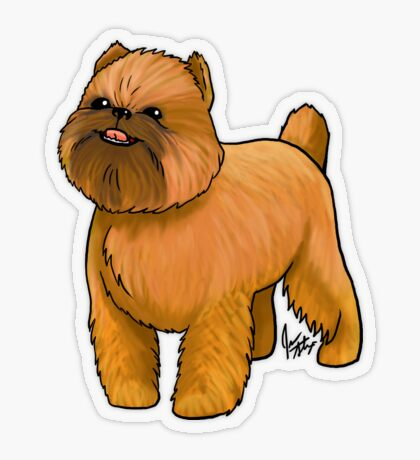 Brussels Griffon Transparent Sticker