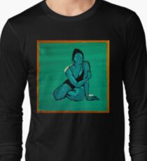 Green and Gold Woman Acrylic Painting T-Shirt