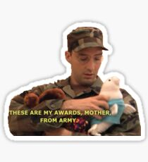 arrested development, buster bluth - awards from army Sticker