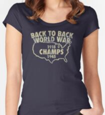 Back To Back World War Champs JM273 Trending Women's Fitted Scoop T-Shirt