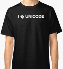 I � UNICODE - ? Love Question Mark Missing Developer Classic T-Shirt