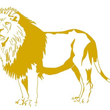 Lion - gold and red by jpearson980