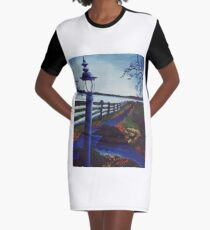 Garden on the Lake Graphic T-Shirt Dress