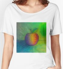 Origami Apple, Oil on Canvas Women's Relaxed Fit T-Shirt