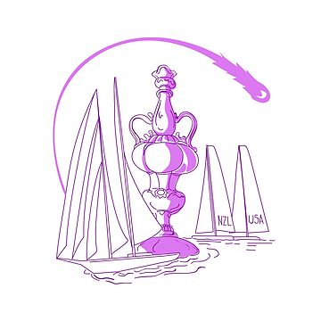 Yachting Championship Cup Drawing by patrimonio