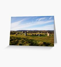 Tomnaverie Stone Circle Greeting Card