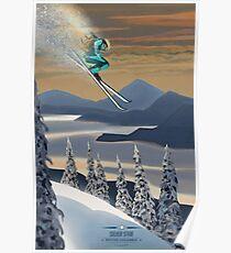 Powder ski art Poster