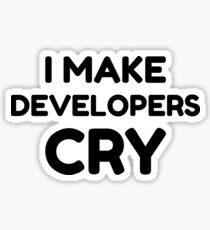 QA Engineer Funny I Make Developers Cry tshirt tee Sticker