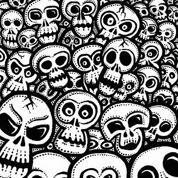 A bright of skulls by Skullz23