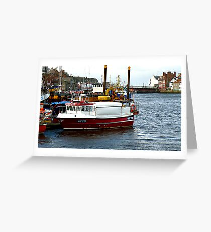 Whitby Harbour #2 Greeting Card