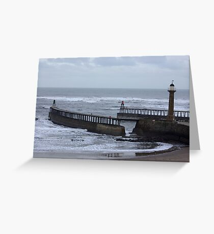 Whitby Harbour Entrance Greeting Card
