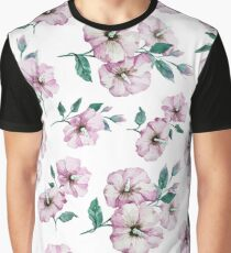 PINK FLOWERS WATERCOLOR Graphic T-Shirt