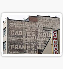 Ghost Sign and Sign Sticker