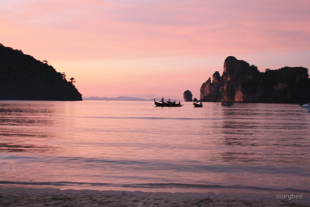 Phi Phi Late sunset by marybee