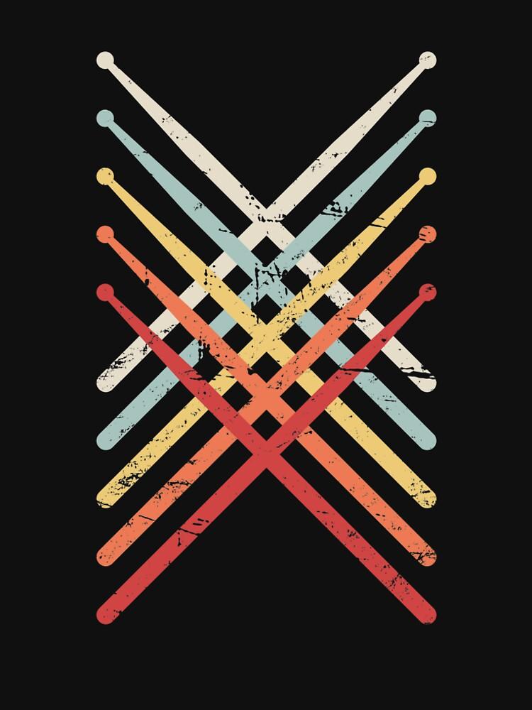 Retro Vintage Drumsticks | Design für Schlagzeuger von ethandirks