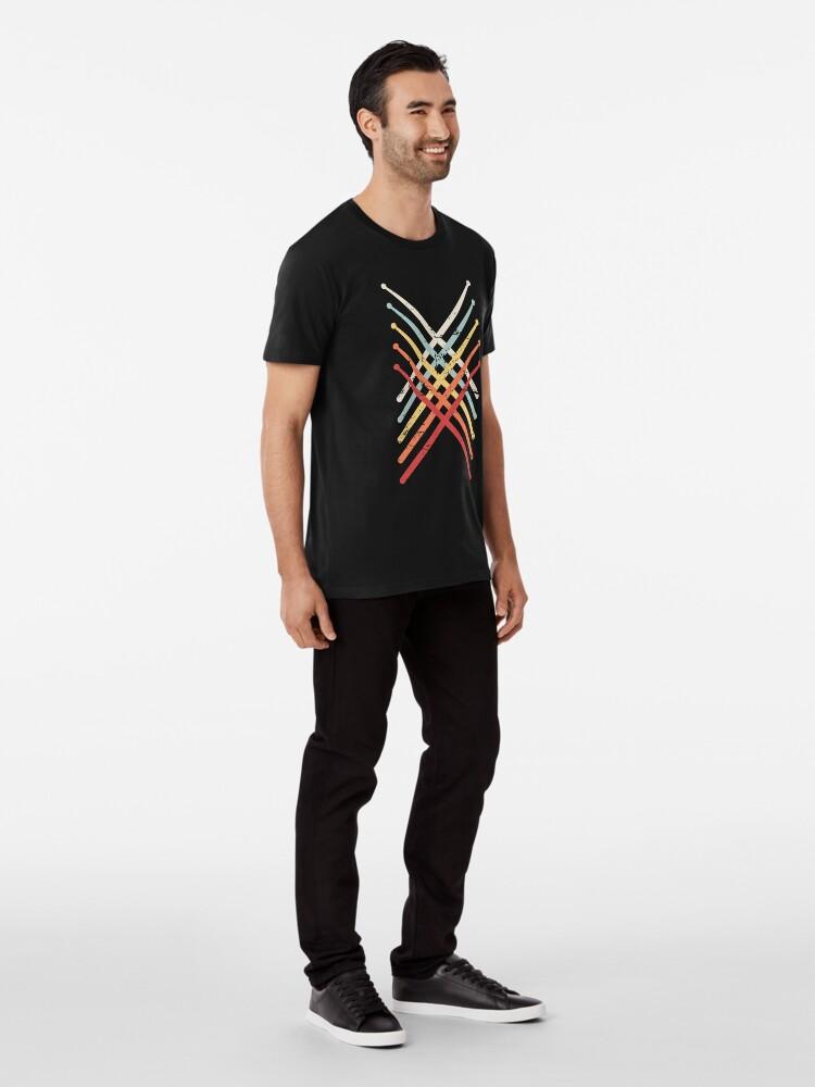 Alternative Ansicht von Retro Vintage Drumsticks | Design für Schlagzeuger Premium T-Shirt