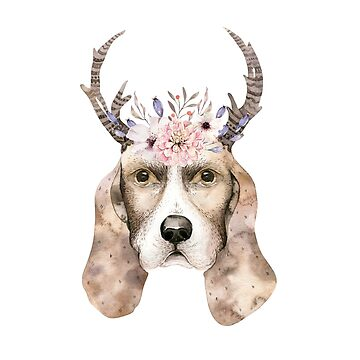 Dog in a flower crown by dogobsession