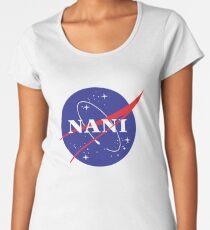 NANI NASA logo Premium Scoop T-Shirt